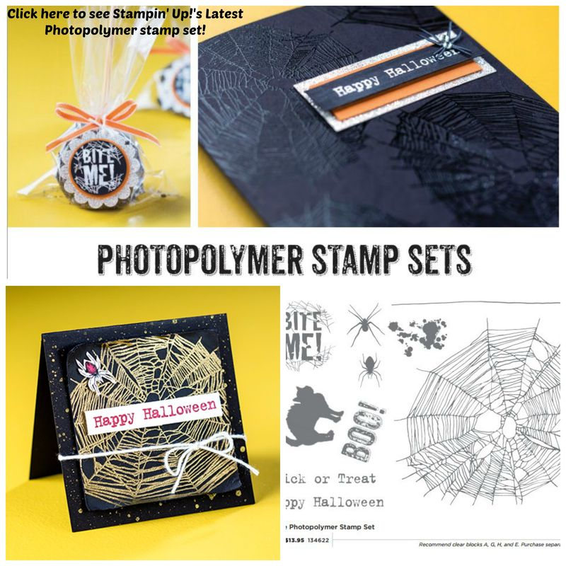 Stampin' Up! Photopolymer stamp set bite me collage