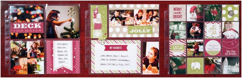 Stampin up! Seasons of style scrapook pages