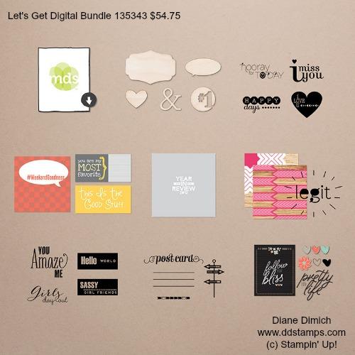 Stampin' Up Let's Get Digital Bundle Saleabration