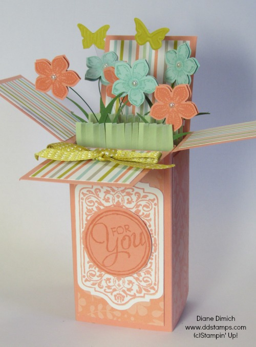 Stampin' Up! Pop Up Card Petit Petals Stamp Set