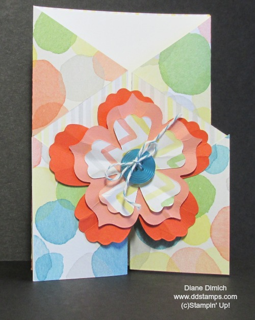 Stampin' Up! Watercolor Wonder gate fold card