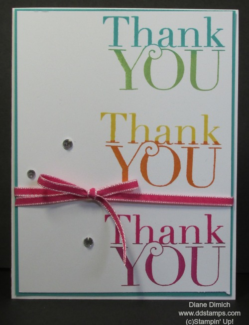 Stampin Up another thank you
