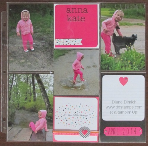 Stampin' Up! Everyday Adventure project Life 2