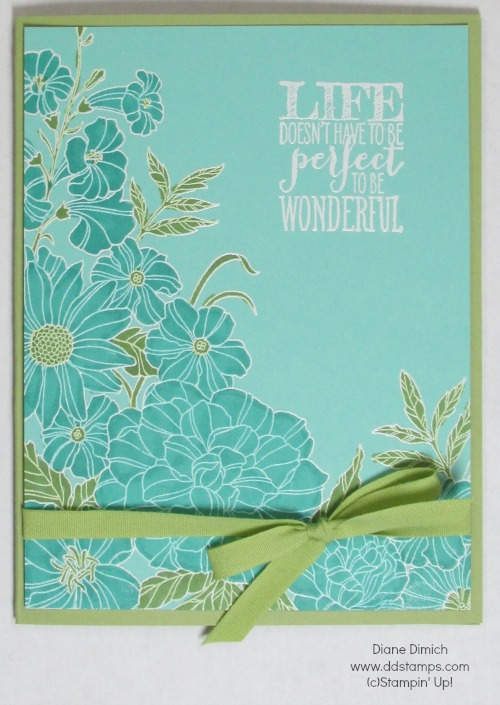 Stampin' Up! Blendabilities Corner Garden