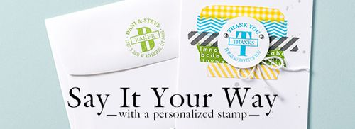 Stampin' Up! personalized Stamp