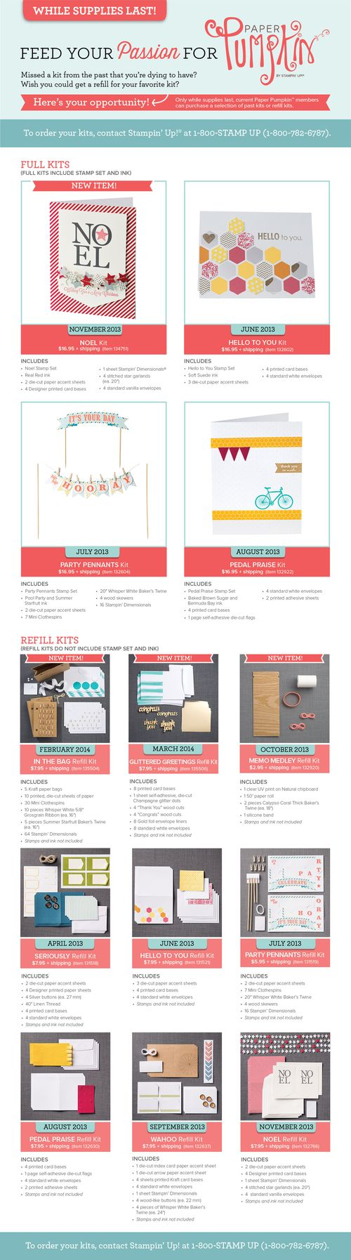 Stampin up paper pumpkin kits on sale