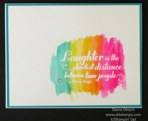 Stampin' Up! Feels Good watercolor