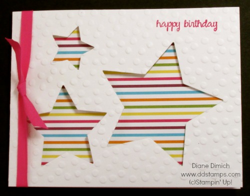 Stampin' Up! Star Framelit Birthday Greeting Card