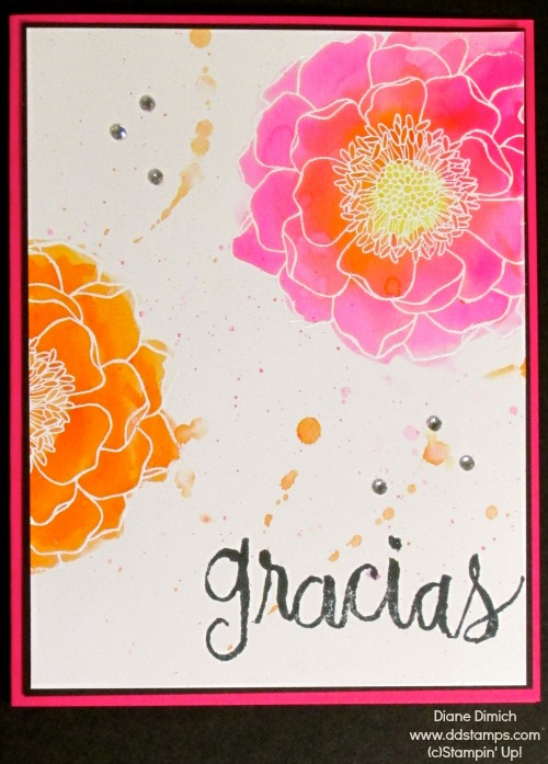 Stampin' Up! Blended Bloom watercolor