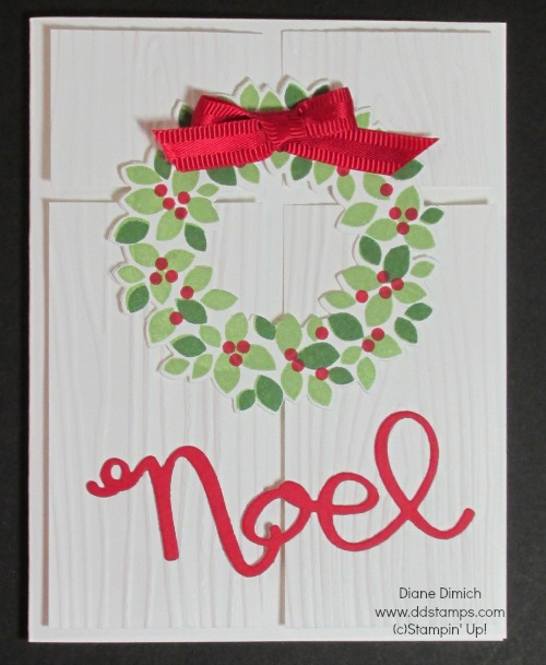 Stampin' Up! Wonderous Wreath and framelits Christmas card