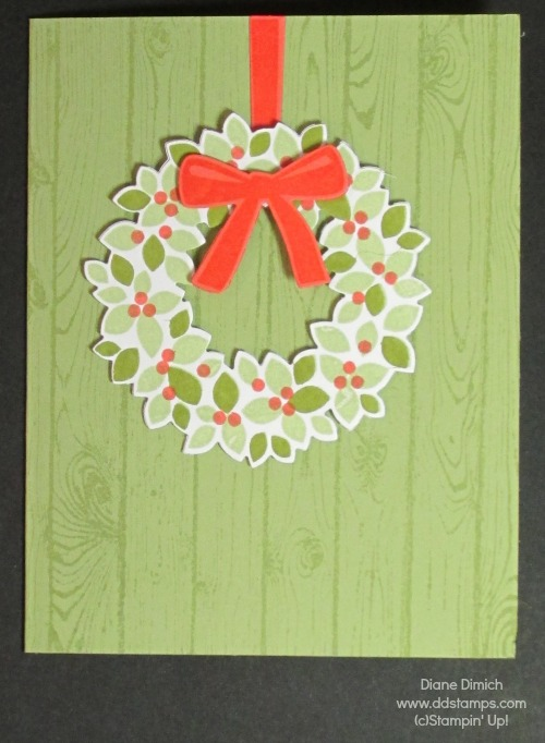 Stampin' Up! Wonderous Wreath and framelits spring
