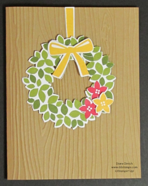 Stampin' Up! Wondrous Wreath and framelits