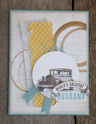 Stampin' up rubber stamp technique