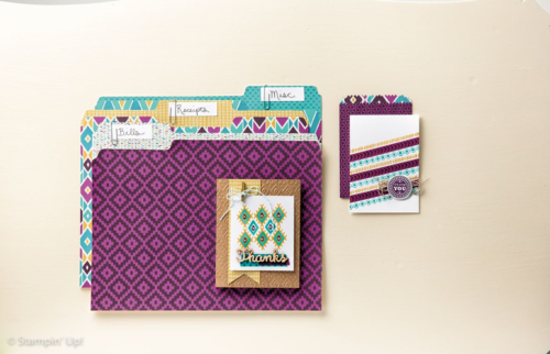 Stampin' Up! Bohemian Borders and Designer series paper