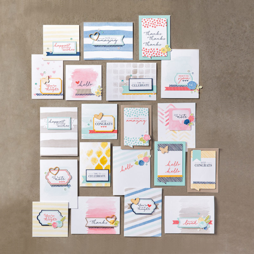 Stampin' Up! watercolor wishes card kit