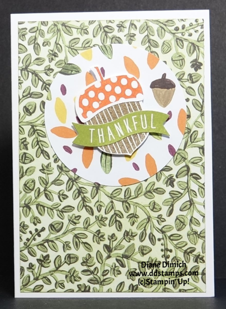 Stampin' Up! Acorny Thank you