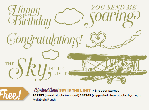 Stampin' Up! Sky is the limit