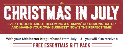 Stampin' Up! Christmas in July