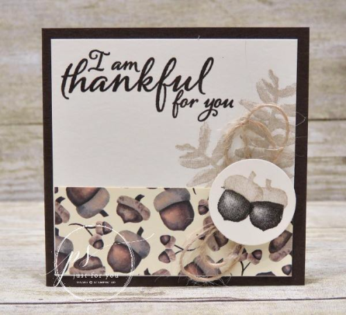 Stampin' Up! Painted Harvest Acorn Note card