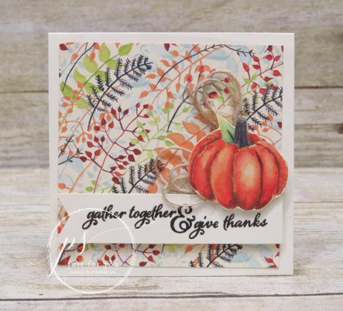 Stampin' Up! Painted Harvest pumpkin card