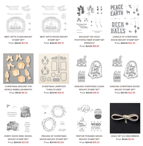 Stampin' Up! Year End Sales Event