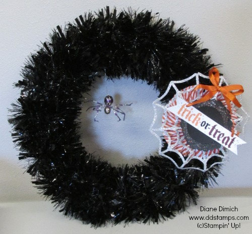 Stampin' Up! Frightful wreath Halloween home decor
