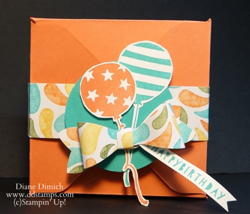 Stampin' Up! Balloon Bash with Gift Box Punch Board