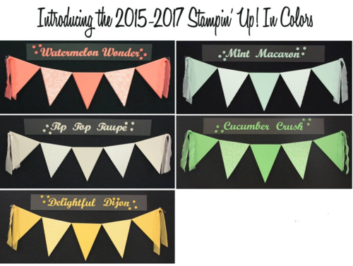 Stampin up new in colors