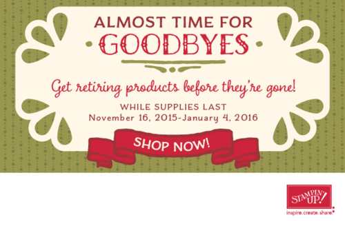 Get Retiring Products from Stampin' Up! before they are gone forever