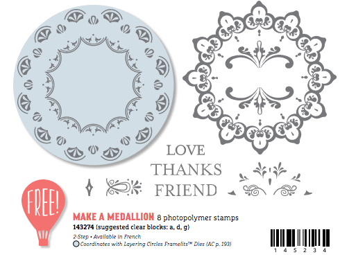 Stampin' Up! Sale-a-bration Make a Medallion