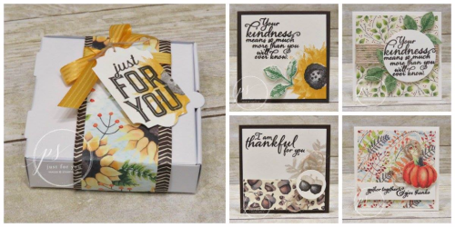 Stampin' Up! Painted Harvest Pizza Box and notecards