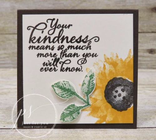 Stampin' Up! Painted Harvest Sunflower note card