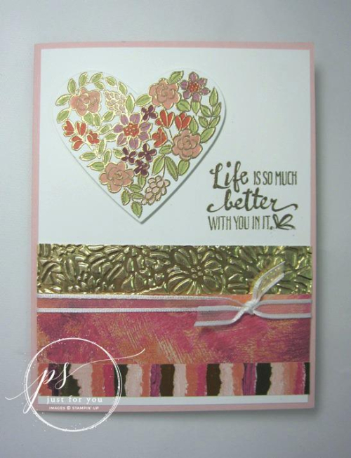 Stampin' Up! Heart Happiness Floral card