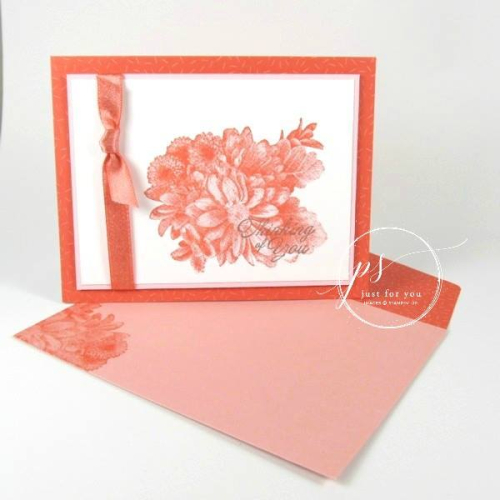 Stampin' Up! Heartfelt Bloom thinking of you
