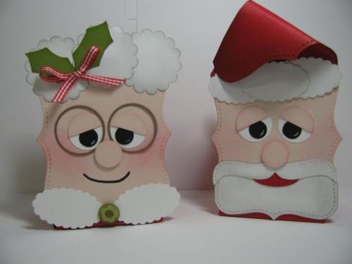 Stampin' Up! Top Note Santa and Mrs Claus Gift box