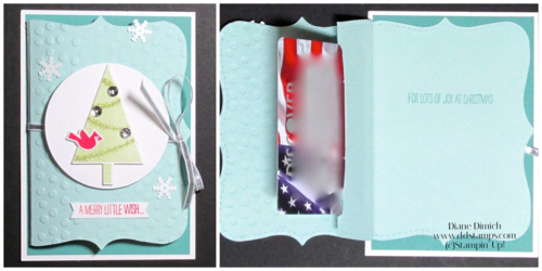 Stampin' Up! Festival of Trees Gift Card Holder