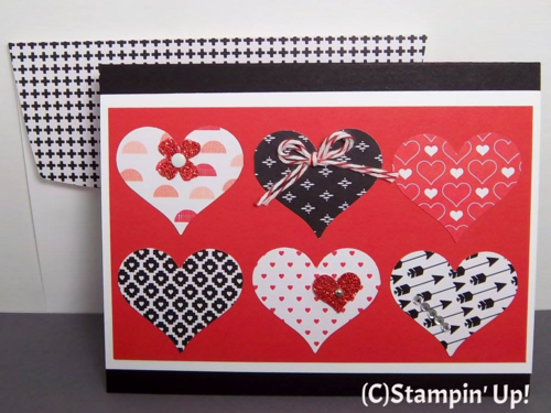 Stampin' Up! Stacked with Love Valentine Greeting Card