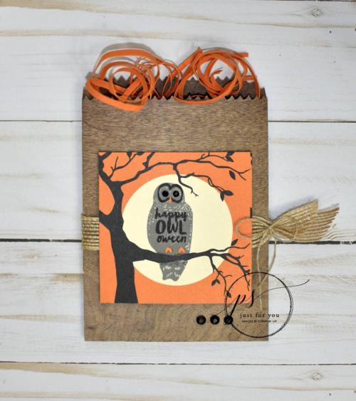Stampin' UP! Spooky cat bag
