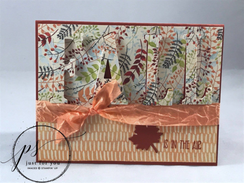 Painted Autumn Fall Eclipse Card