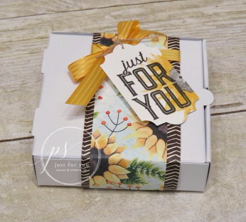 Stampin' Up! Painted Harvest Pizza Box