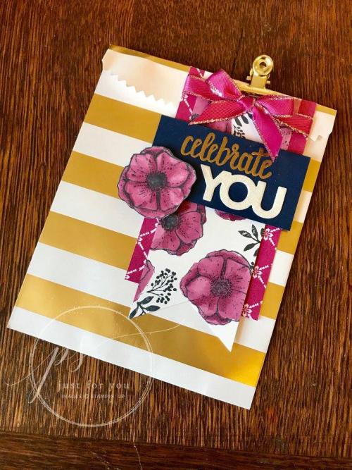 Celebrate You Striped bag
