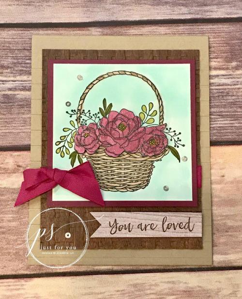 Blossoming Basket Bundle Card