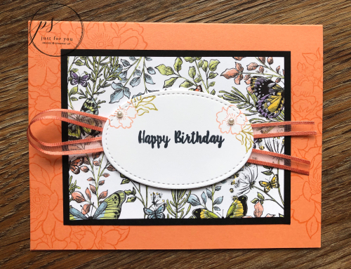 Botanical butterfly birthday