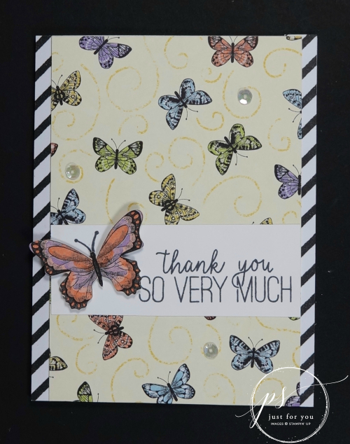 Butterfly gala thank you card