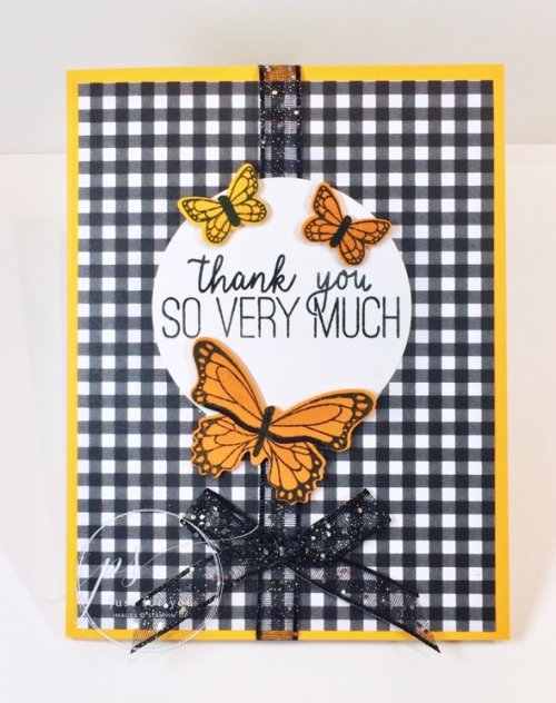 Butterfly Gala gingham