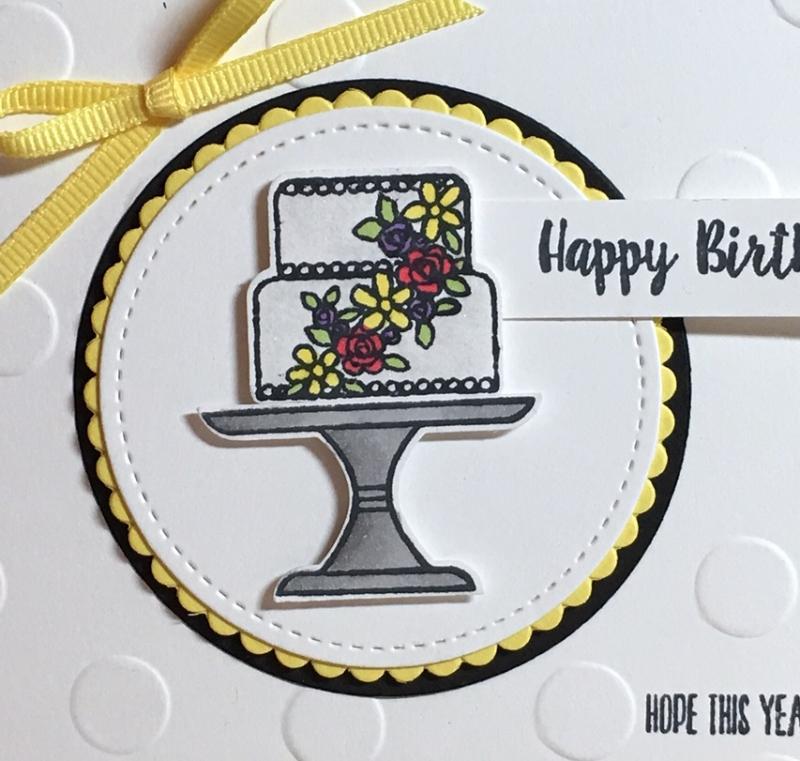 Piece of pineapple cake closeup
