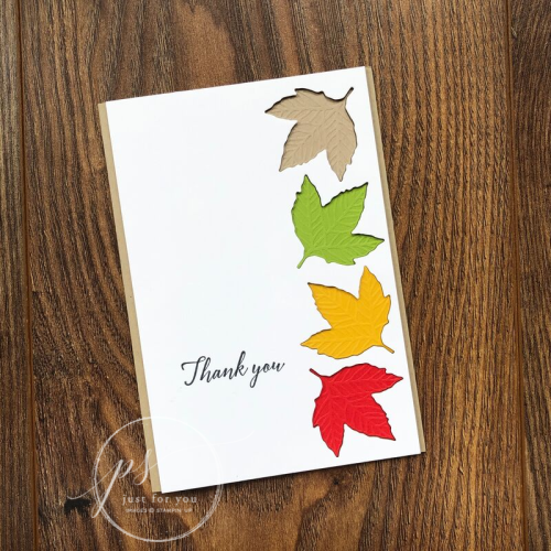 Gathered leaves thank you