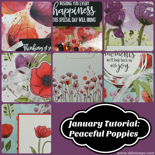 January Tutorial- Peaceful Poppies