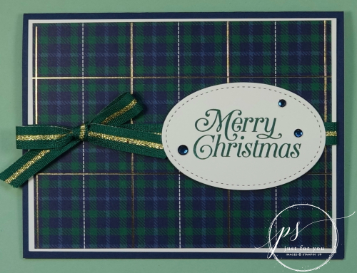 Perfectly plaid merry christmas