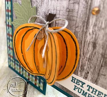 Hello pumpkin closeup